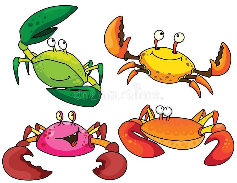 Download Funny crabs stock vector. Image of crabs, underwater - 14616453