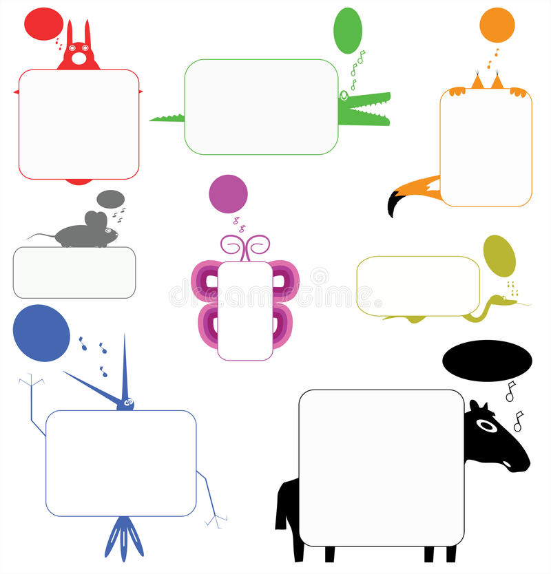 Funny Creatures stock illustration