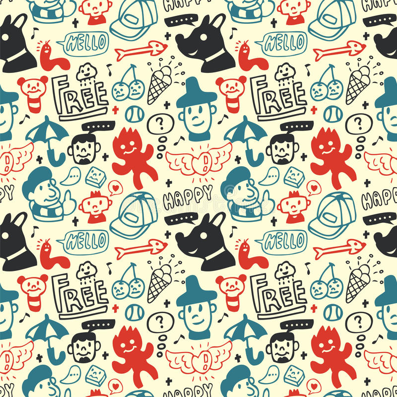 Download Funny Creatures Collection. Seamless Pattern. Royalty Free Stock Photos - Image: 16794968