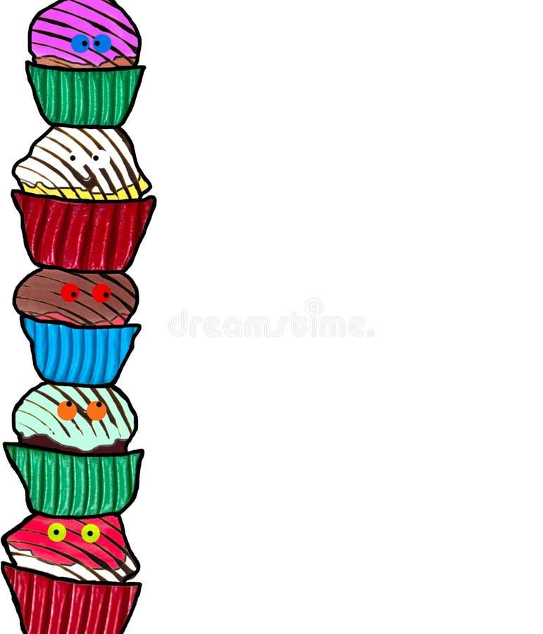 Funny Cupcake Border stock photo