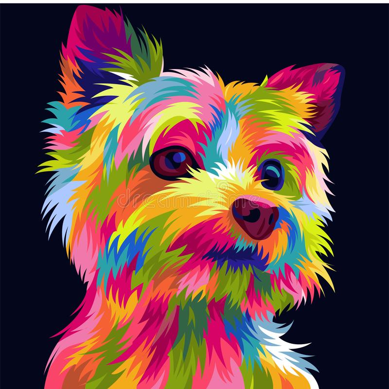 Funny and cute dog vector pop art full colours. For your gift royalty free stock images