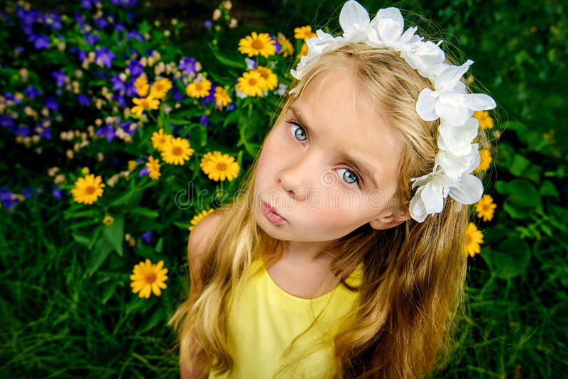 Funny cute girl royalty free stock photography