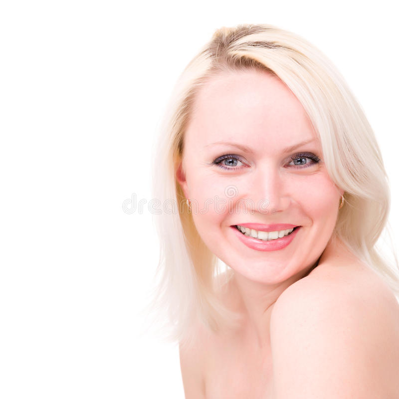 Smiling Woman On White Background Royalty Free Stock Photography