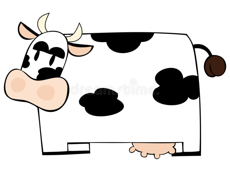 Download Funny dairy cow. stock vector. Image of bovine, coat - 14951030