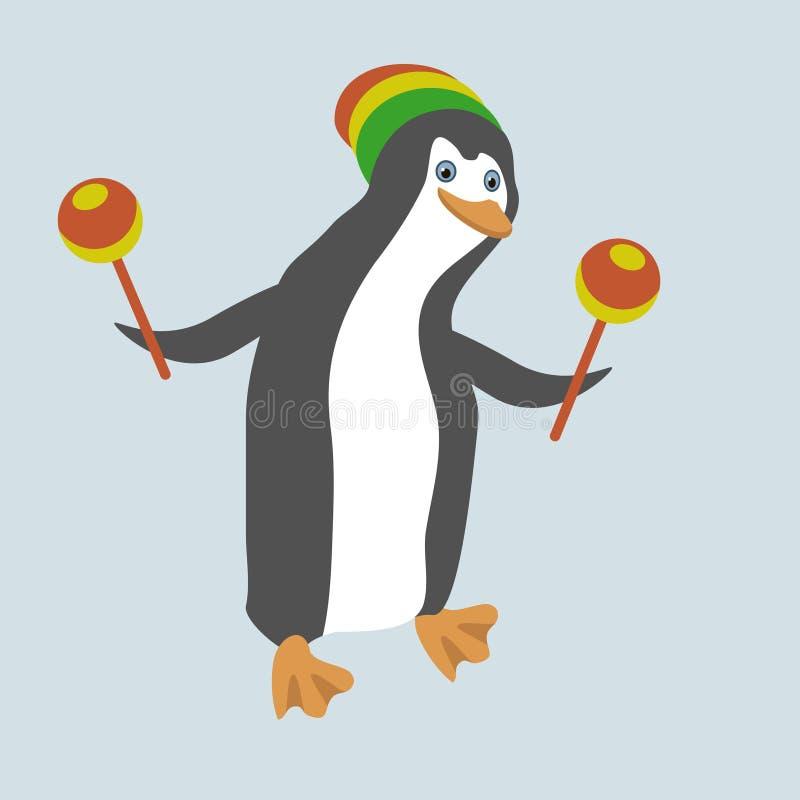 Download Funny dancing penguin stock vector. Illustration of resting - 29445414