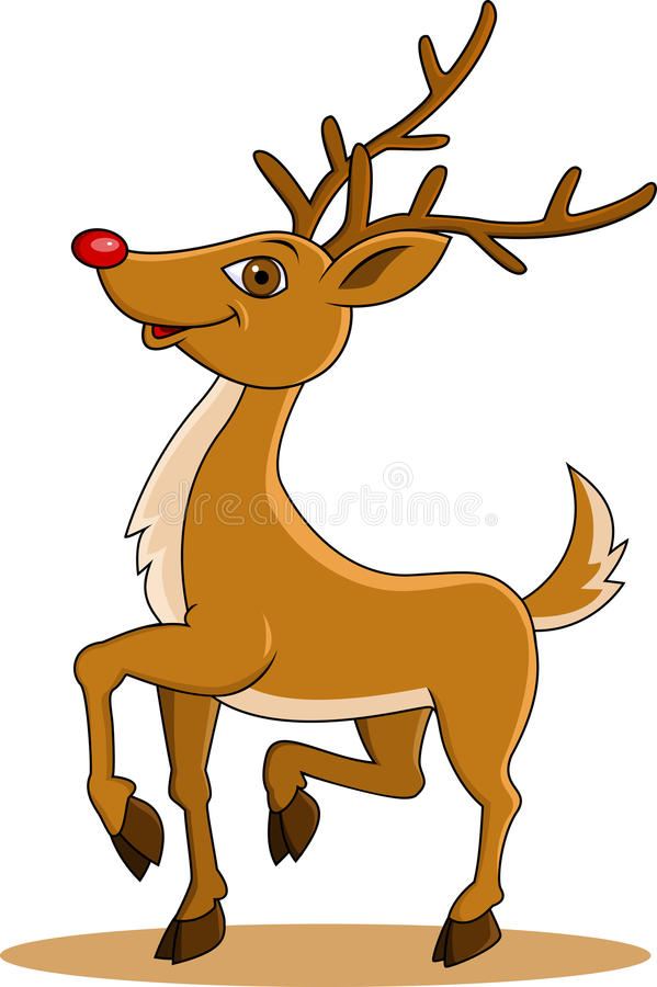 Funny Deer Cartoon Royalty Free Stock Photos