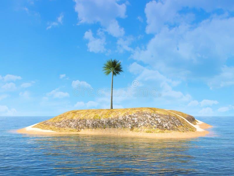 Funny Desert Island, Palm Tree, Background stock photos