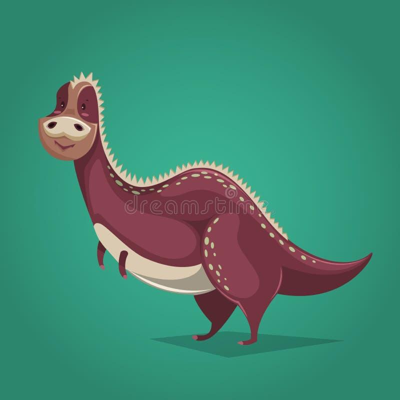 Funny dinosaur in cartoon style. royalty free illustration
