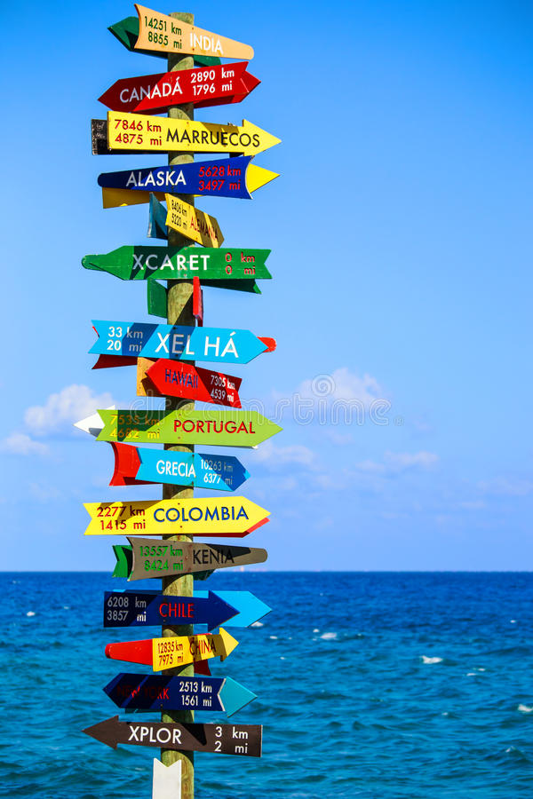 Funny direction signpost royalty free stock images