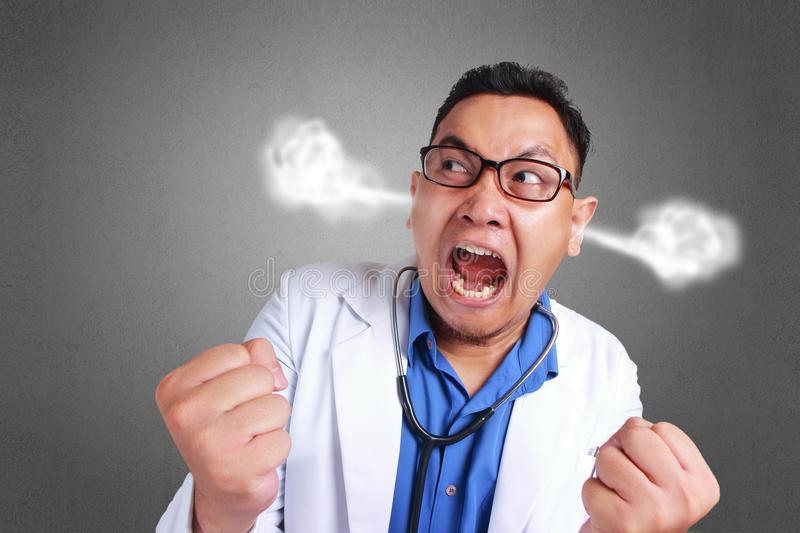 Funny Doctor Angry royalty free stock photos