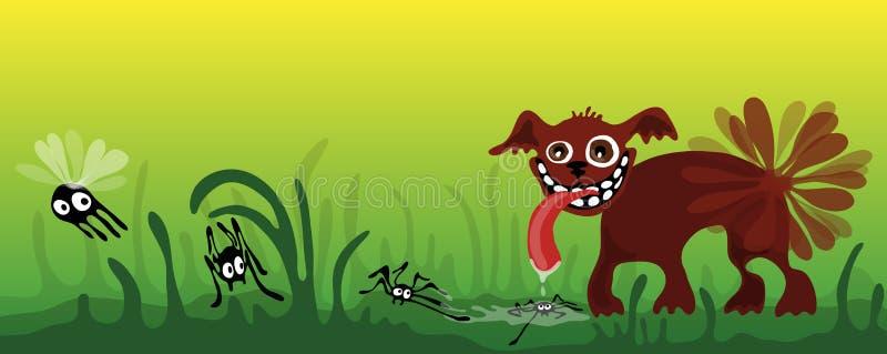 Download Funny dog stock vector. Illustration of green, humor - 28814348