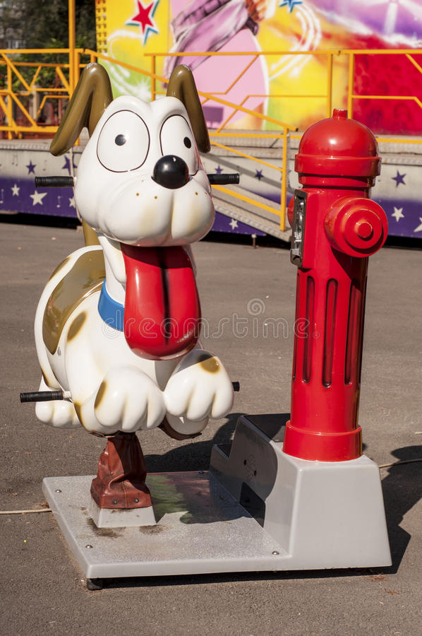 Download Funny Dog In An Amusement Park Stock Image - Image: 32846097
