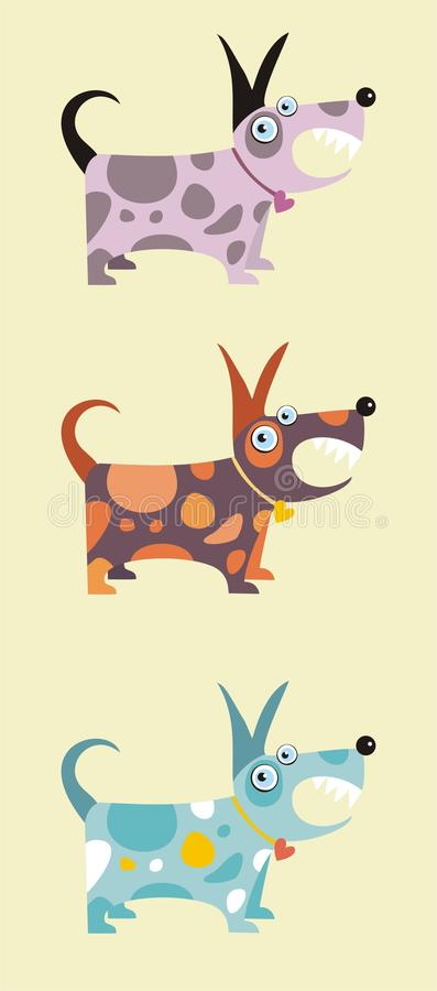 Download Funny dogs stock vector. Image of silhouette, present - 11408055