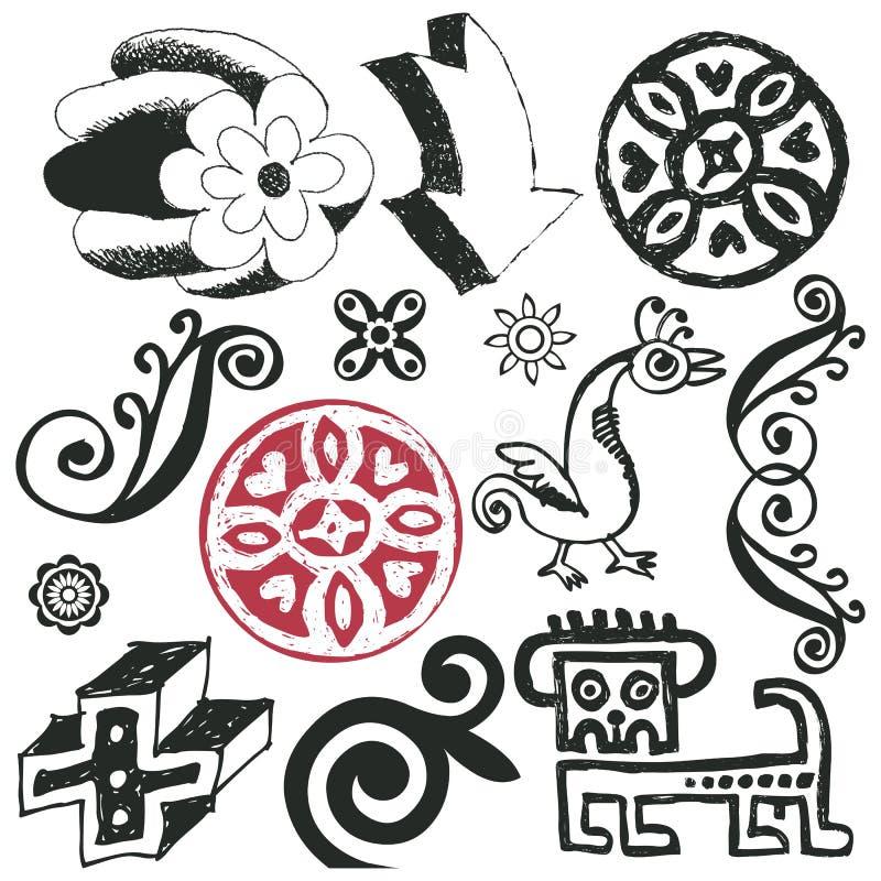 Download Funny doodles stock illustration. Image of bird, elegance - 15792236
