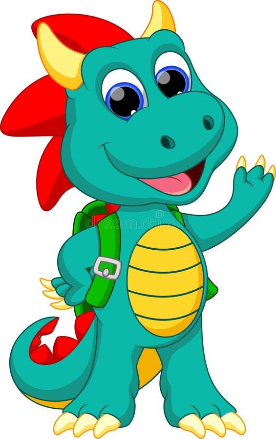 Funny dragon cartoon stock illustration of