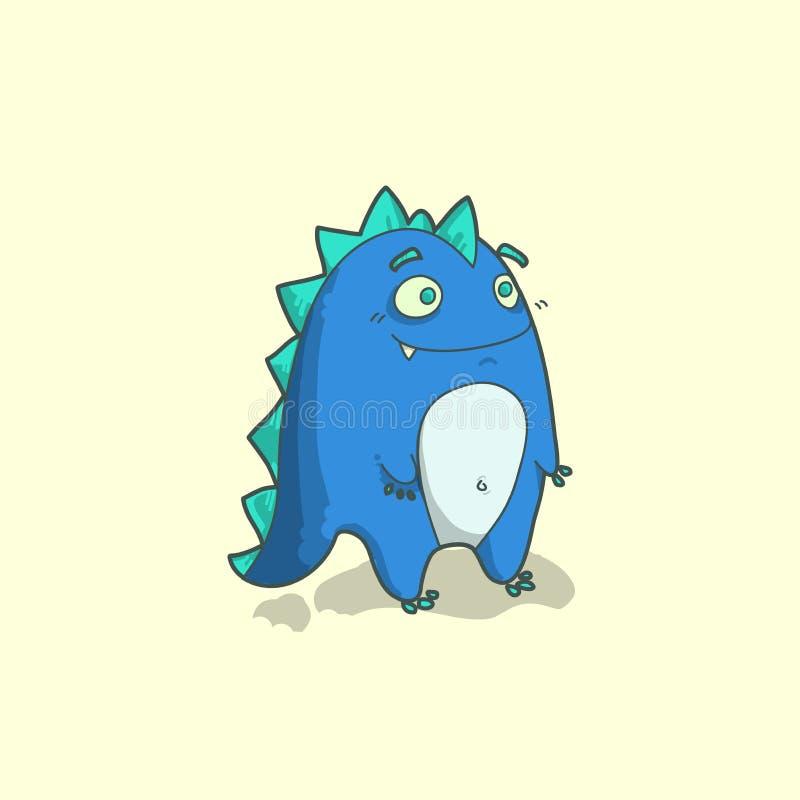 Funny dragon character in cartoon style. Vector illustration. vector illustration
