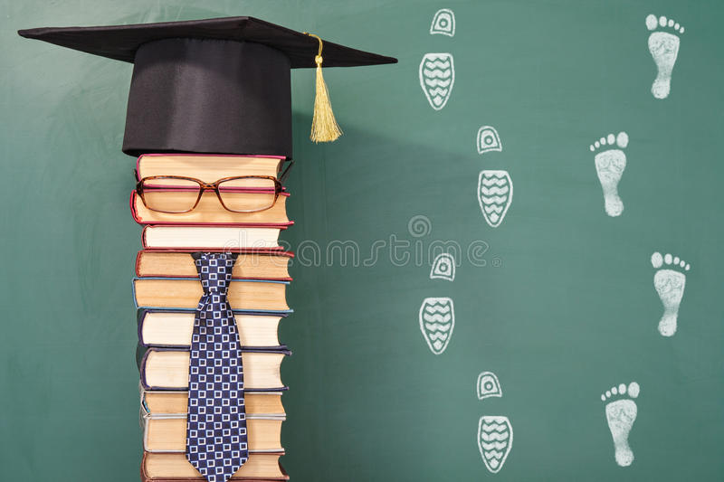 Funny education concept royalty free stock photography