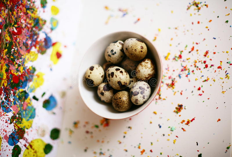 Funny egg art. Easter background. Funny egg art. Colorful Easter background royalty free stock images