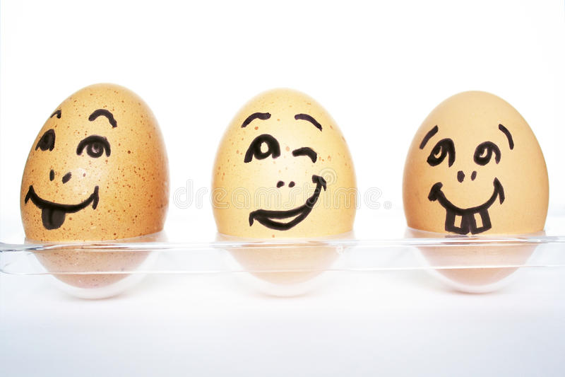 Download Funny Eggs stock image. Image of horizontal, cooked, three - 23222691