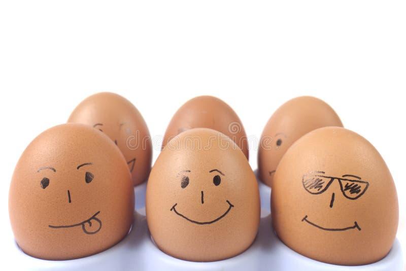 Funny eggs royalty free stock photos