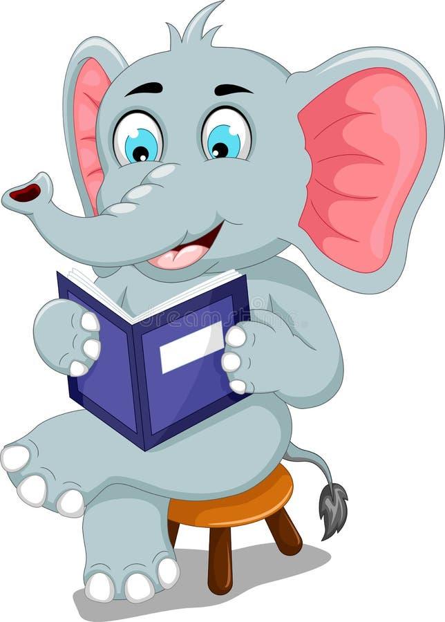 An Elephant Reading A Book