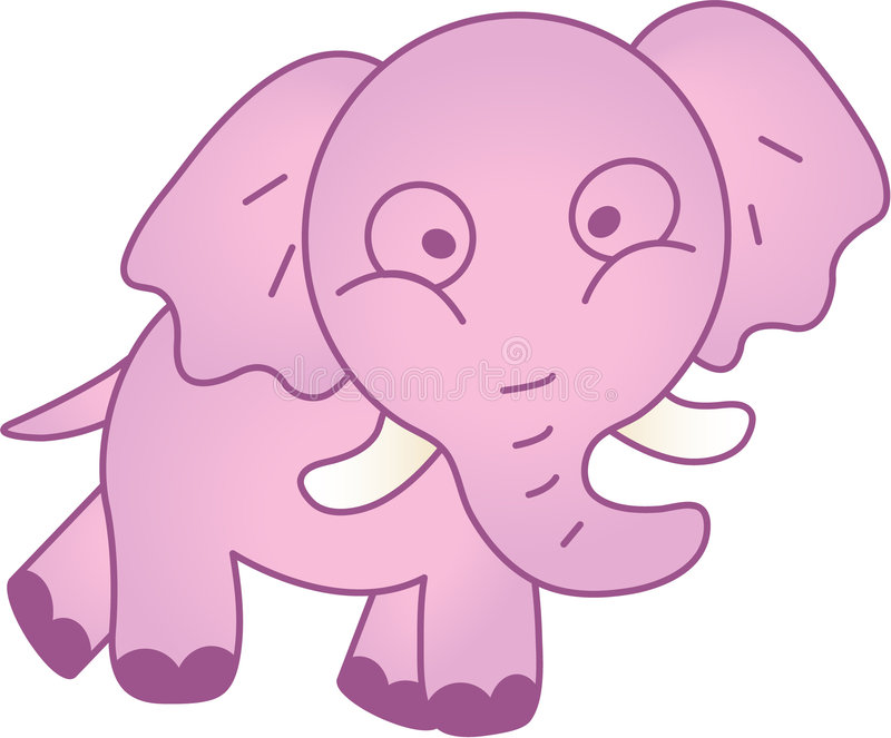 Download Funny Elephant - Vector Illustration Stock Vector - Illustration of animals, funny: 7712989