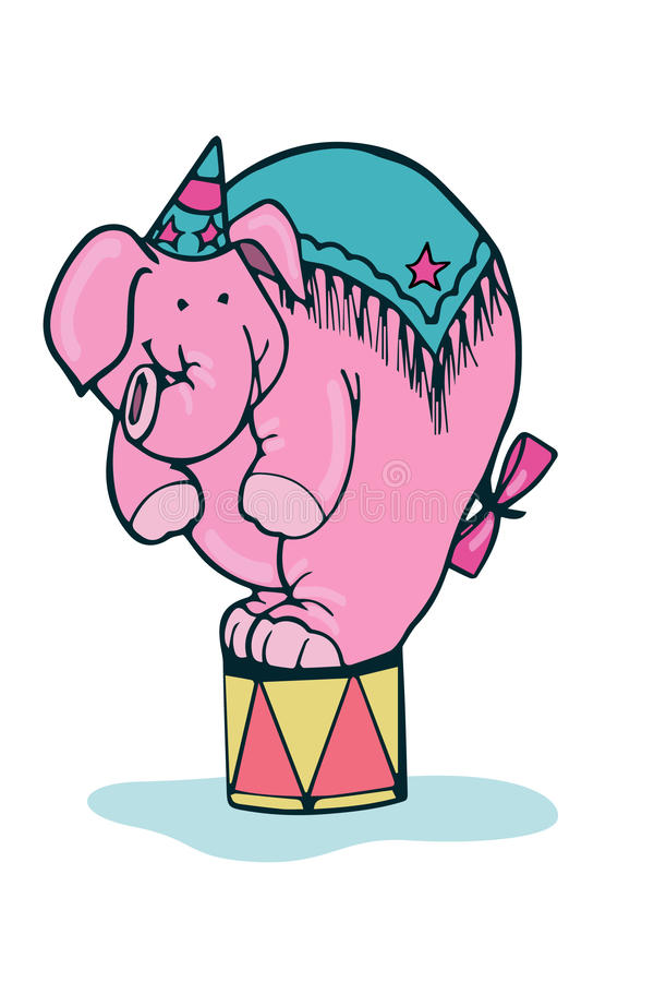 Funny elephants stock photography