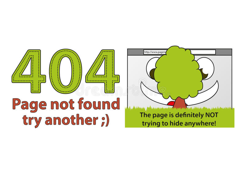Funny Error 404 - Page Not Found Stock Image
