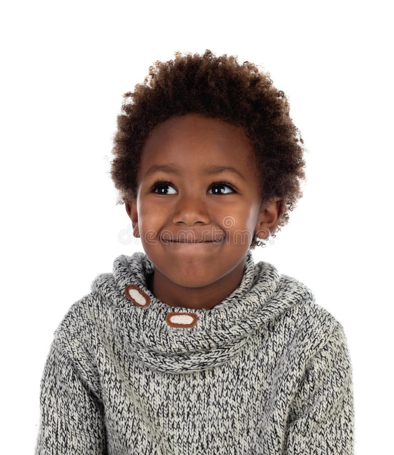 Funny expression of a small african child royalty free stock images