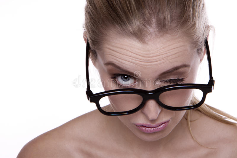 Download Funny face. stock photo. Image of comical, lady, close - 22073578