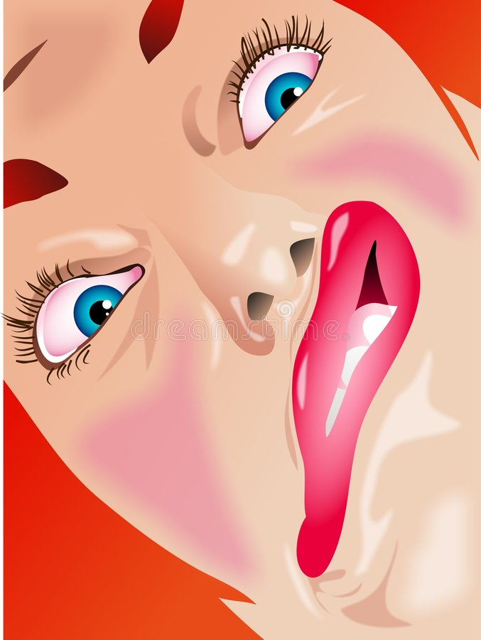 Funny Face stock illustration