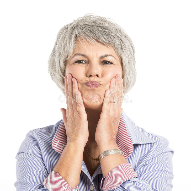 Funny face royalty free stock photography