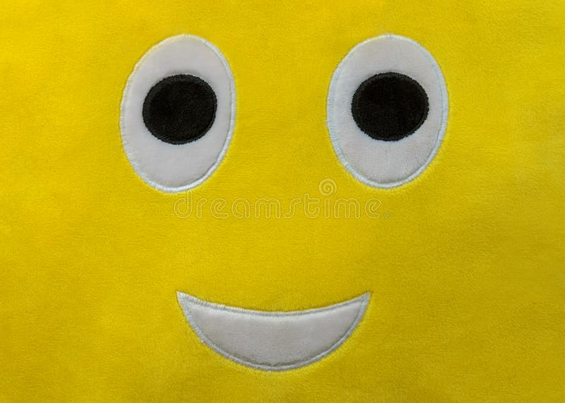 Funny face, soft toy close-up. Image of funny face, soft toy close-up stock photography