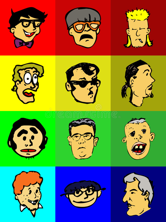 Download Funny Faces Icons Royalty Free Stock Images - Image: 9292069