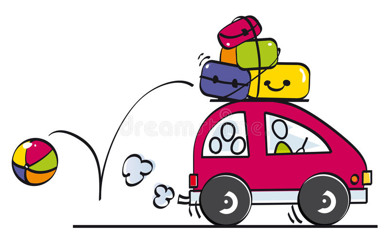 Download Funny Family Goes On Vacation Stock Illustration - Image: 20083272