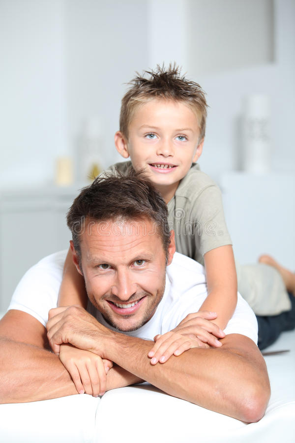 Funny family portrait royalty free stock photography