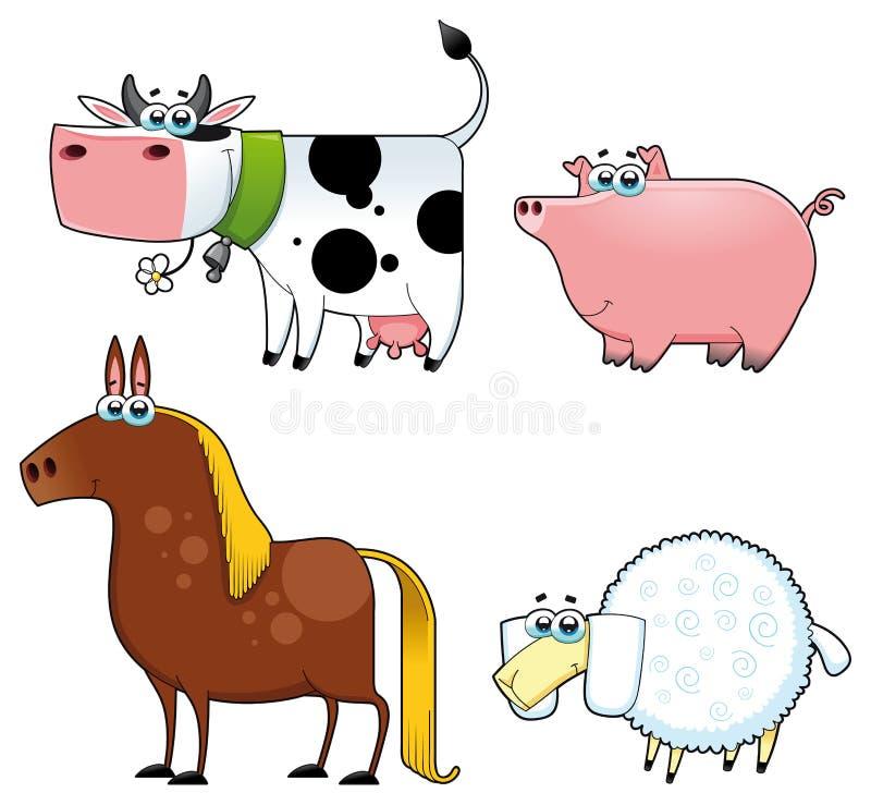 Funny farm animals. vector illustration