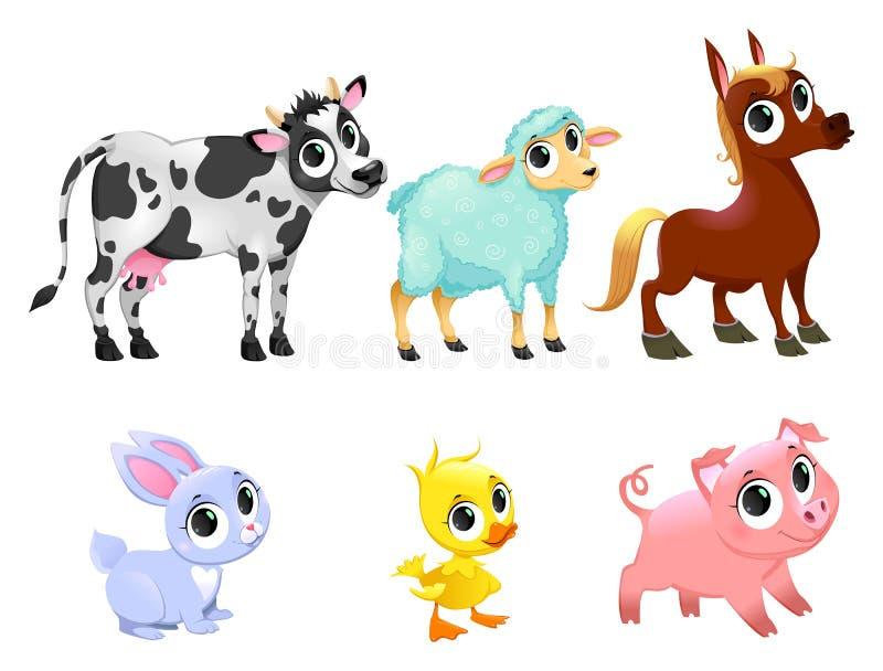 Funny farm animals royalty free illustration