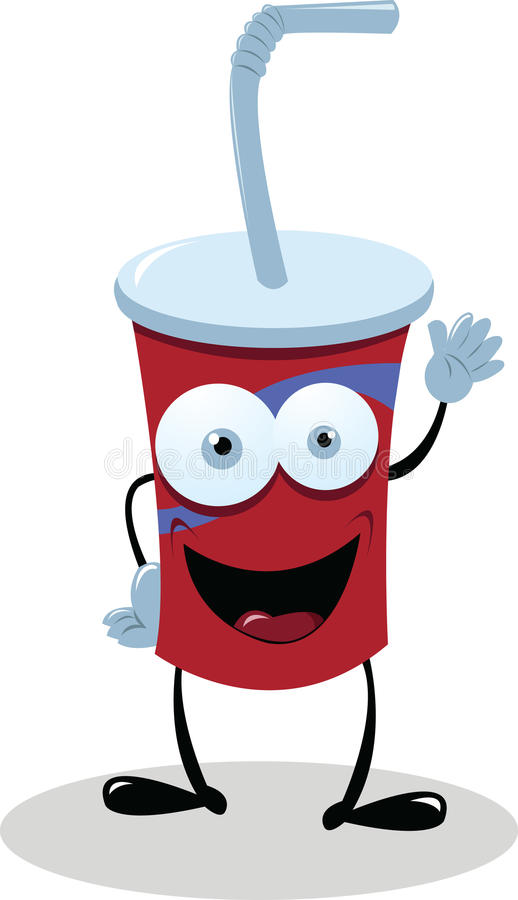 Download Funny Fast Food Drink stock vector. Illustration of copy - 27177548
