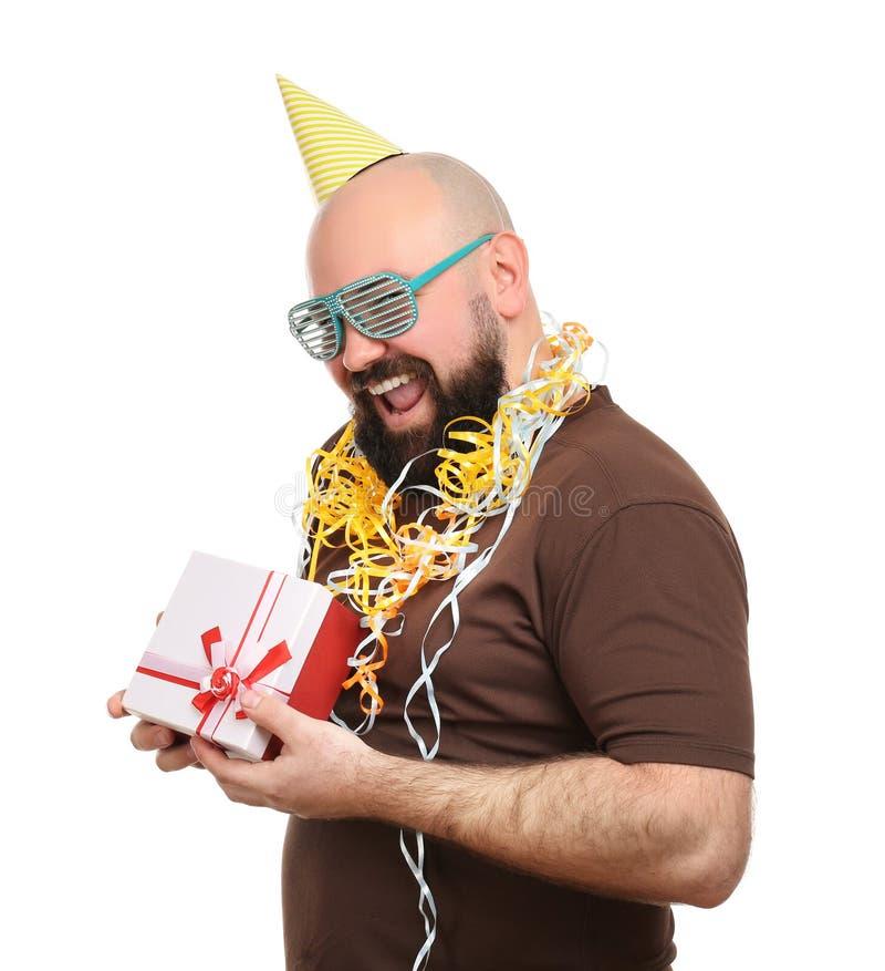 Birthday Present With Streamer Stock Photo