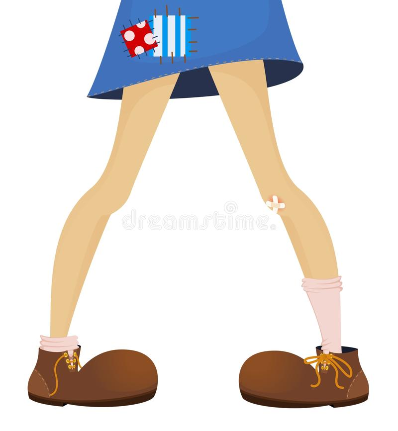 Download Funny feet of teenager stock vector. Image of girl, plaster - 13660365