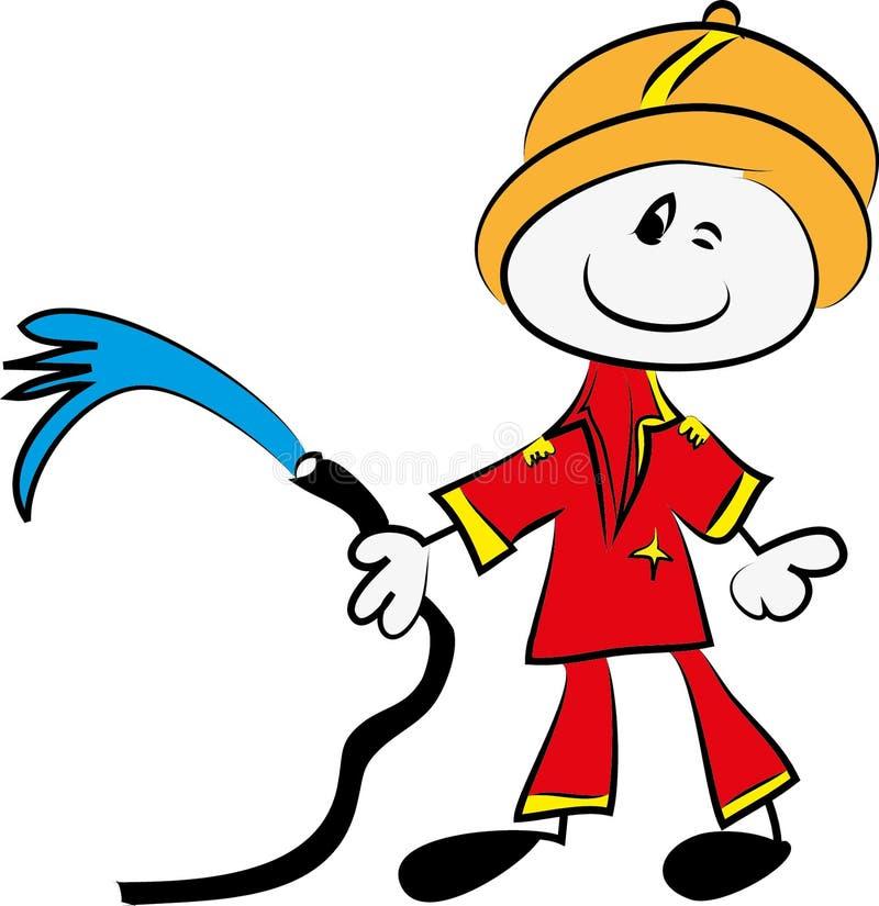 Funny firefighter tcartoon stock illustration