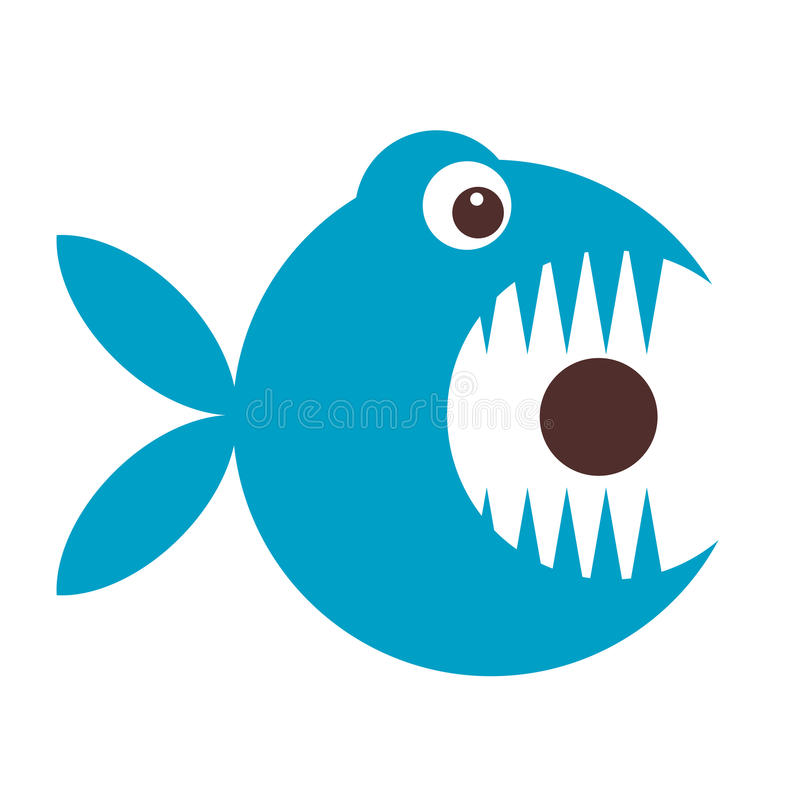 Funny fish cartoon for your design vector illustration