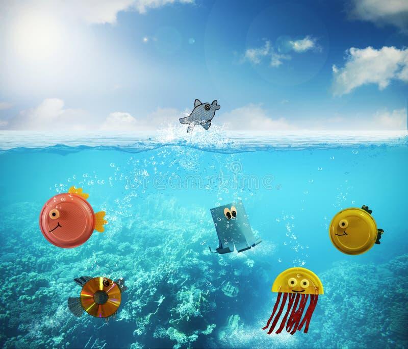 Funny fish stock image