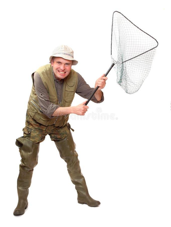 Funny Fisherman. Royalty Free Stock Photography