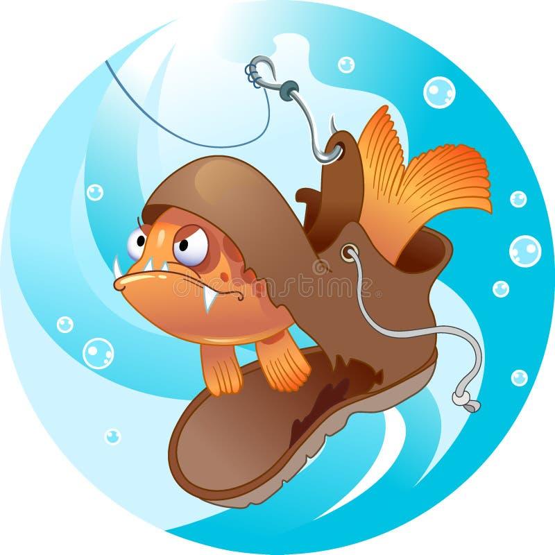 Funny fishing vector illustration