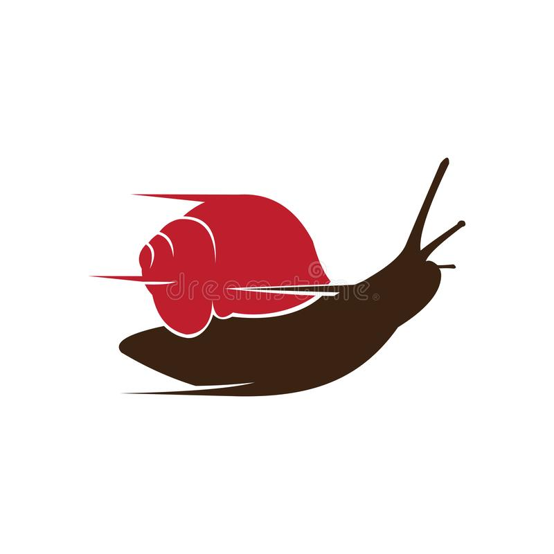 Funny Flash Fast Quick Snail Move Speed stock illustration
