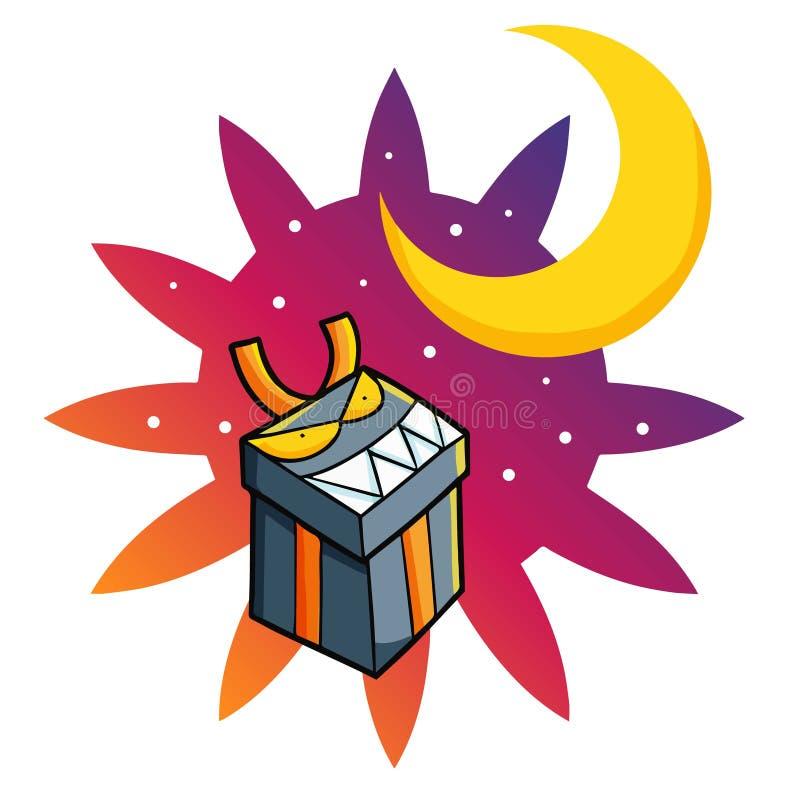 Funny flying Halloween gift. stock image
