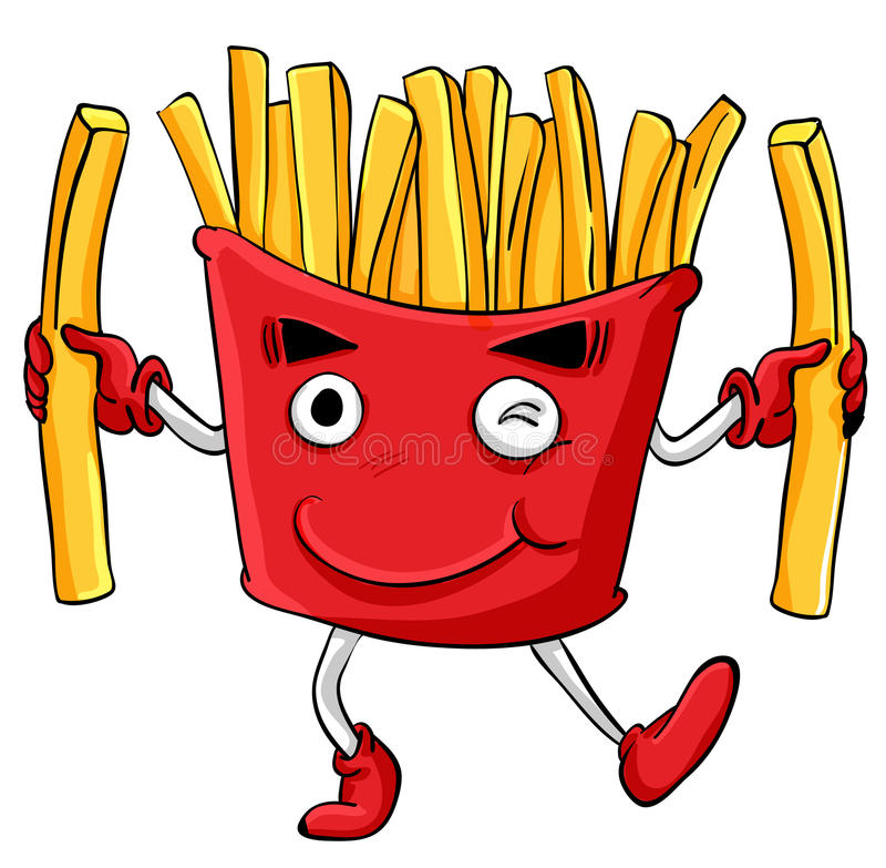 Funny food stock illustration