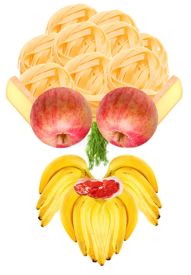 Funny Food Face stock image